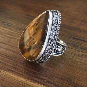 Jewelry - Sterling Silver Tiger Eye Gemstone Ring